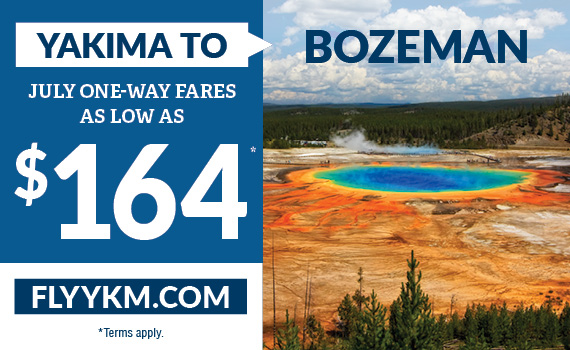 Yakima to Bozeman as low as $164