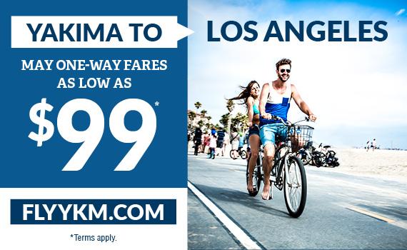 Yakima to Los Angeles $99 one way!