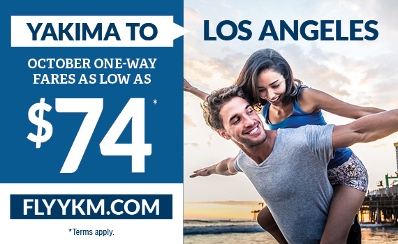 Yakima to Los Angeles as low as $74