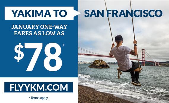 Yakima to San Francisco - $78